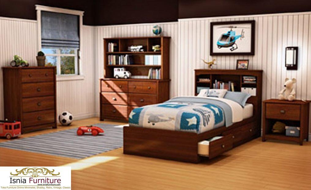 Kamar Set Anak Laki - Laki Minimalis Brown