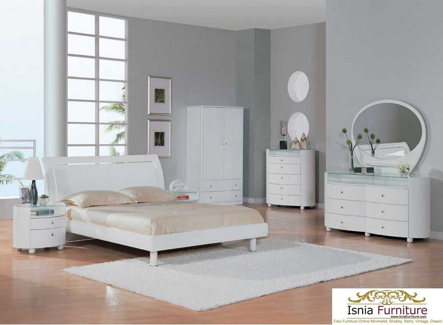 Kamar Set Jati Minimalis Putih