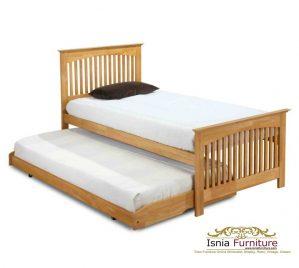 Tempat Tidur Anak Sorong Jati Natural