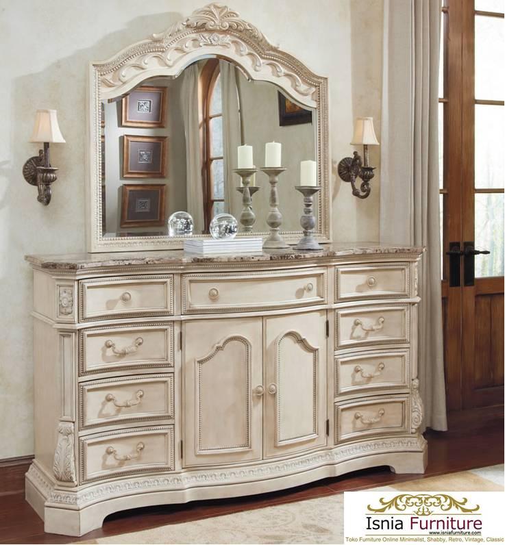 Dresser Antik Mewah Marie Antoinette
