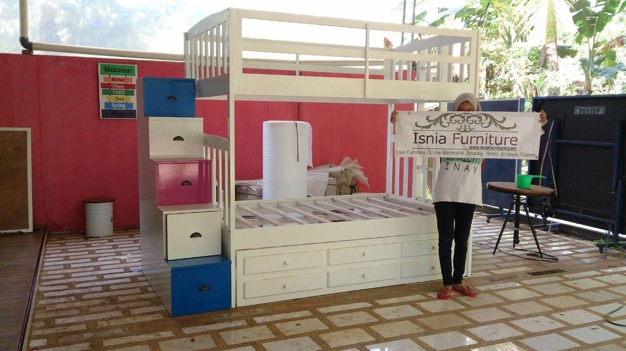 Tempat Tidur Anak Tingkat Sorong Minimalis