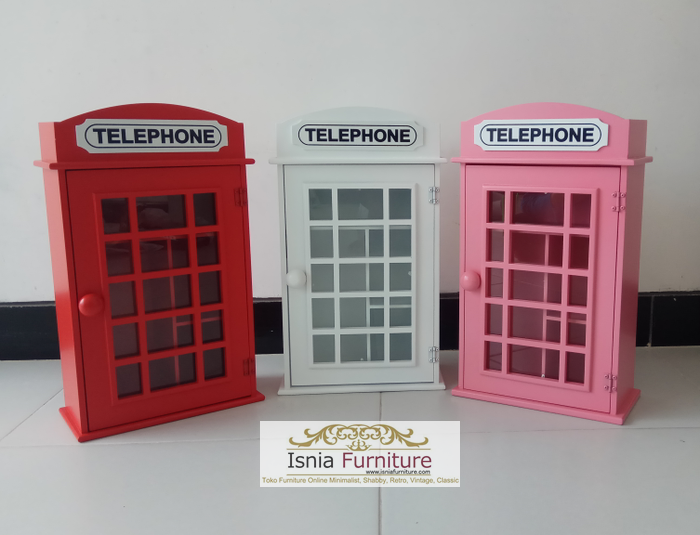 Lemari Pajangan Telephone Box London Inggris Murah