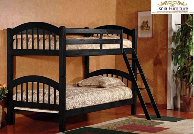 Harga Tempat Tidur Tingkat Modern Jati Murah