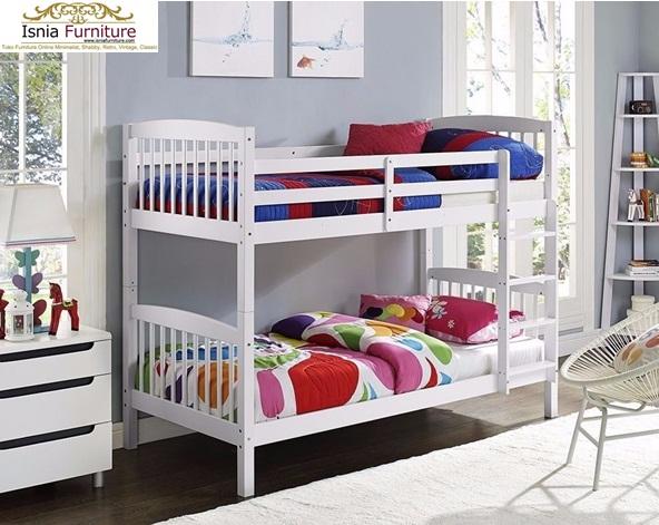 Harga Tempat Tidur Tingkat Modern Jati Putih
