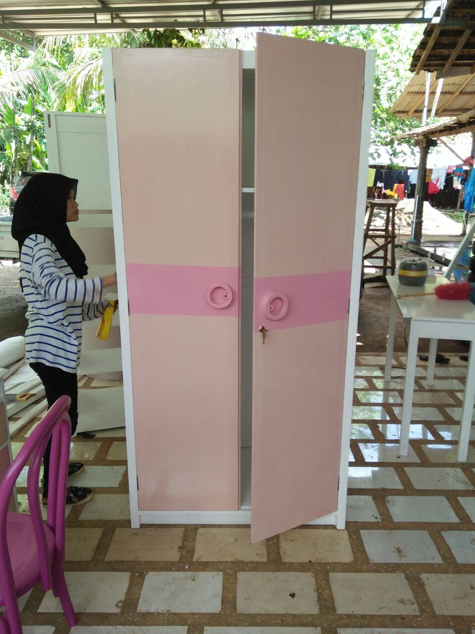 Lemari Set Kamar Anak Bandung Warna Pink Feminim - Pesanan Bpk Rudi