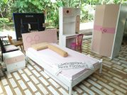 Set Kamar Anak Bandung Warna Pink Feminim – Pesanan Bpk Rudi