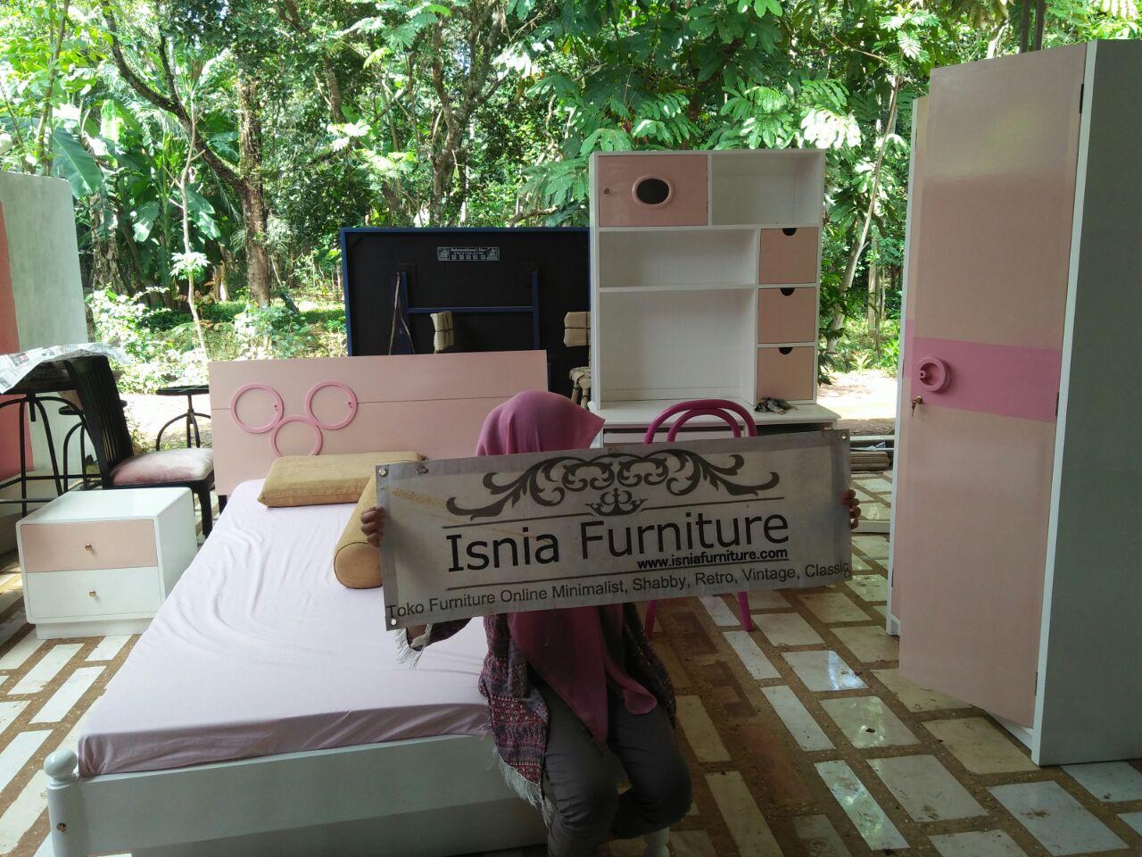 Set Kamar Anak Bandung Warna Pink Feminim - Pesanan Bpk Rudi Real