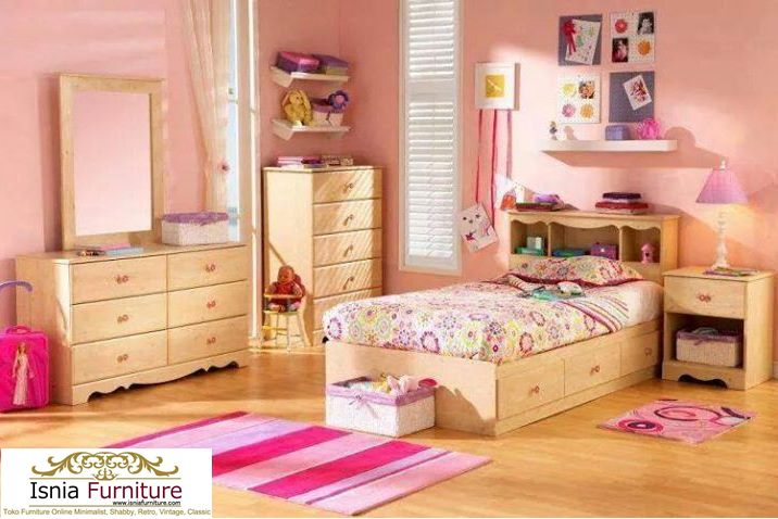 Set Kamar Anak Modern Model Kekinian Natural