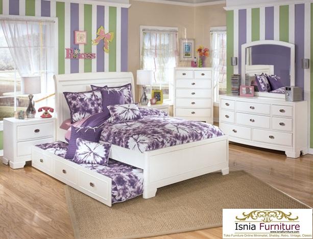 Set Kamar Tidur Perempuan Putri Bunga Jogjakarta - Bapak Agus