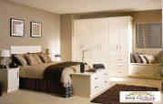 Set Tempat Tidur Minimalis Dengan Lemari 6 Pintu