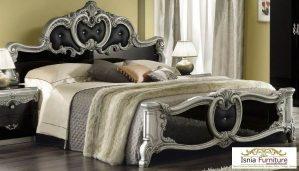 Tempat Tidur Mewah Ukir Barocco Silver