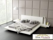 tempat tidur minimalis putih duco kayu