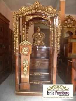 Jual Mimbar Masjid Jakarta Ukiran Kayu Jati Terbaru Mewah