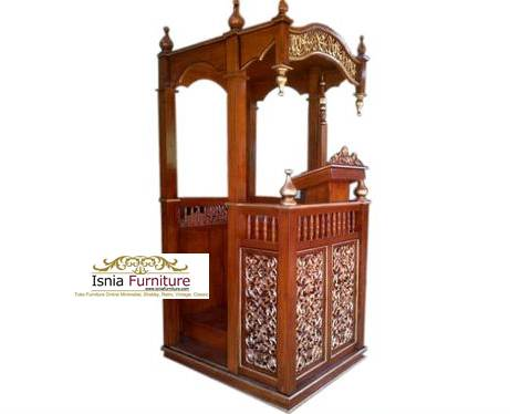 podium masjid kayu jati ukir