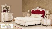 Tempat Tidur Mewah Ukir Mahogany