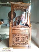 Mimbar Masjid Jogja Kayu Jati Mewah Relief Ukiran Kaligrafi