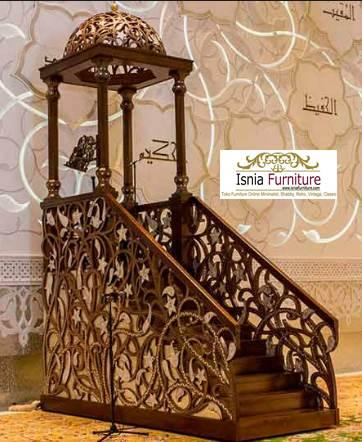 Mimbar Masjid Kubah Jogja Ukiran Kayu Jati