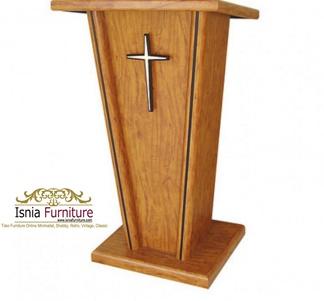 Jual Mimbar Gereja Murah Minimalis Kayu Jati