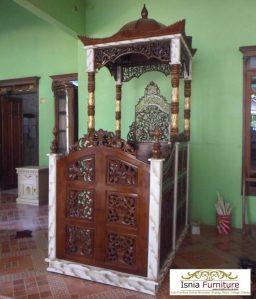 64 mimbar masjid ukiran jepara kayu jati terlaris – Jual harga murah