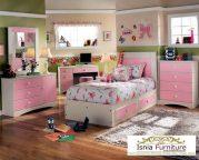 Kamar Set Anak Malang Pink Minimalis Charming