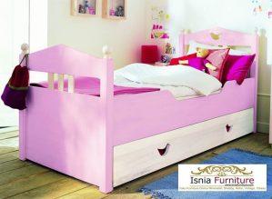 Tempat Tidur Anak Malang Modern Pink Single