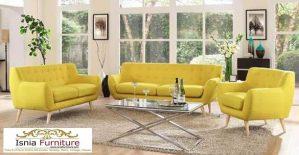 Set Kursi Tamu Sofa Retro Minimalis 2-2-1 Scandinavian