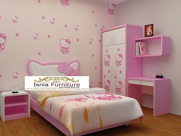 Jual Kamar Set Anak Hello Kitty Perempuan Pink