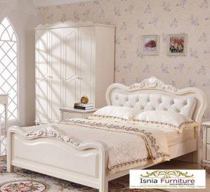Tempat Tidur Mewah Ivory Ukiran Minimalis