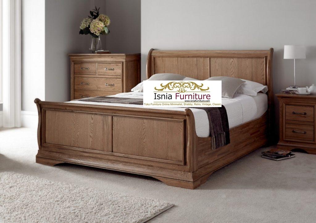 Tempat Tidur Minimalis Kayu Jati Rustik