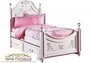 Tempat Tidur Princess Sorong Minimalis Putih