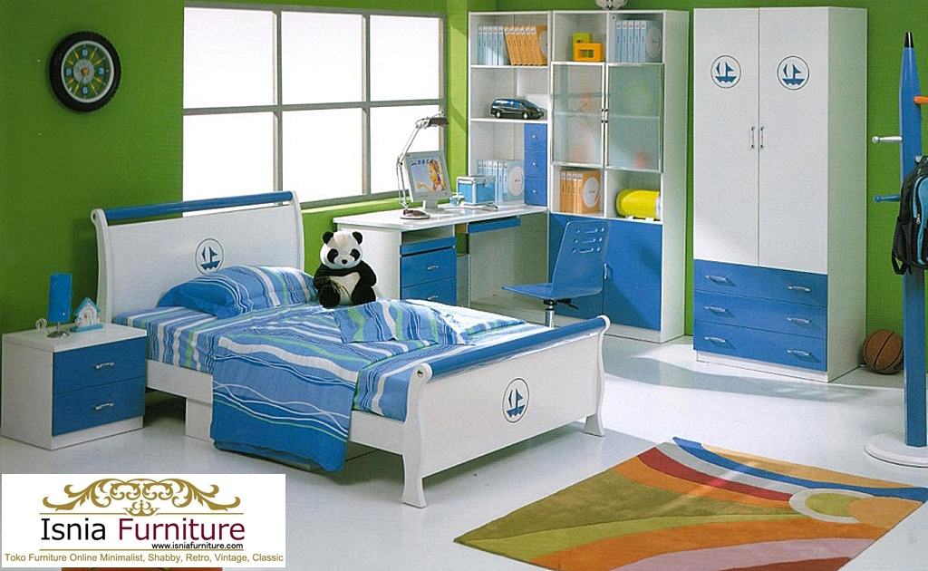Kamar Set Anak Bandung Blue White