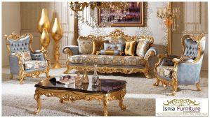 Kursi Tamu Ukiran Mewah Modern Gold