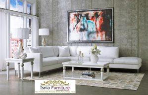 Set Kursi Sofa Sudut Minimalis Duco Putih Cantik