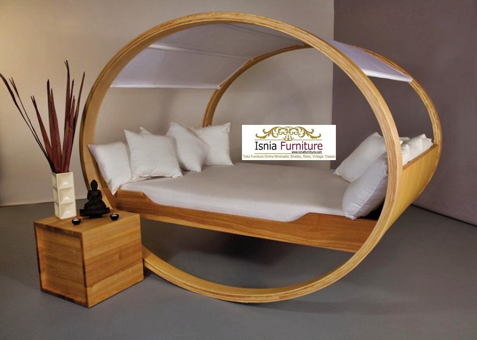 Tempat Tidur Unik Model Kasur Goyang Kayu Solid