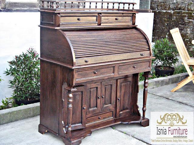 Jual Meja Komputer Jati Klasik Model Papan Piano Murah
