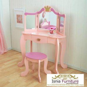 Jual Meja Rias Anak Minimalis Princess Pinky Sweety