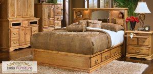 Jual Tempat Tidur Jati Cirebon Model Laci Minimalis