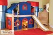 Tempat Tidur Tingkat Anak Laki-Laki Model Prosotan