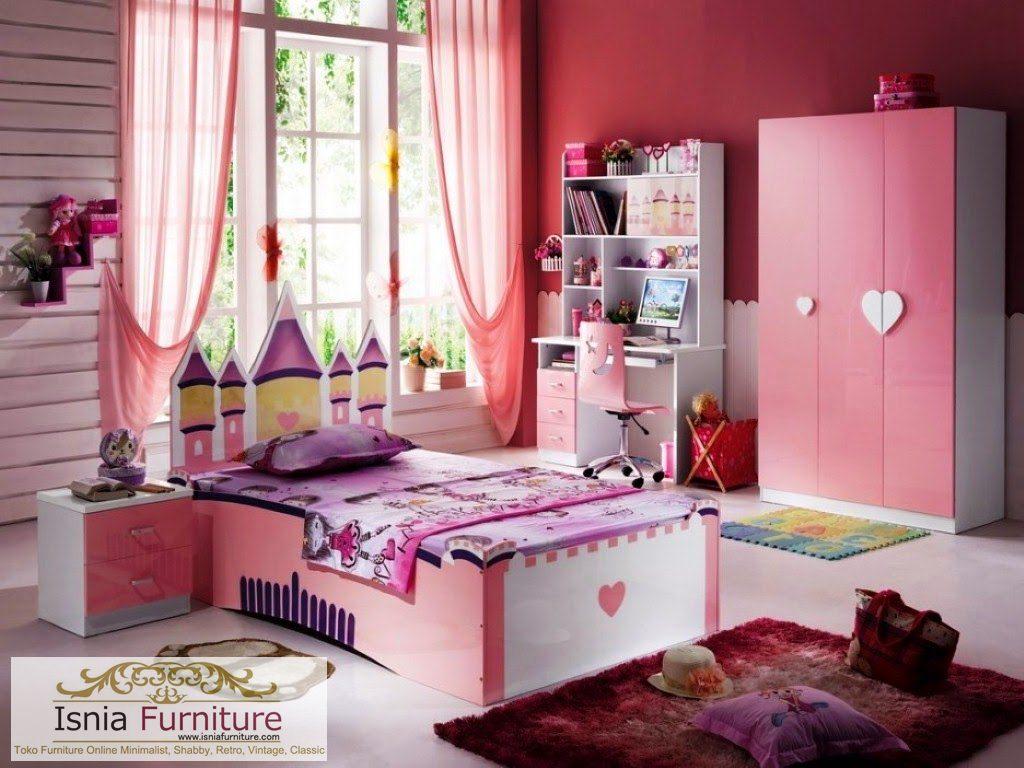 Model Desain Kamar Anak Minimalis Modern Pink Cantik