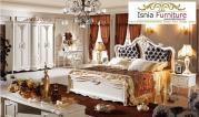 Jual Tempat Tidur Mewah Luxury Ukir Duco Kombinasi