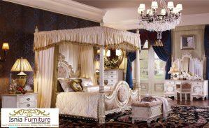 Tempat Tidur Pengantin Set Kamar Ukir Mewah Model Kanopi