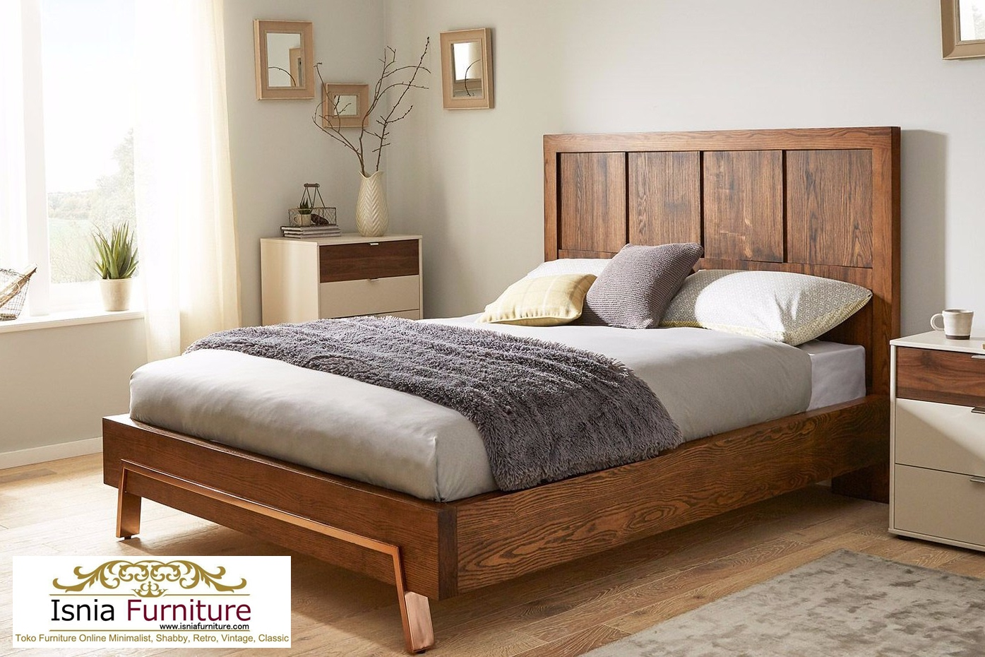 Model Tempat Tidur Jati Modern Minimalis Head Board Harga Murah