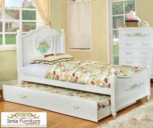 Jual Tempat Tidur Sorong Minimalis Shabby Untuk Anak Remaja