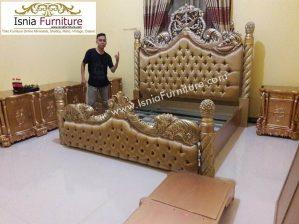 Set Tempat Tidur Mewah Medan Model Ukiran Ulir Royal