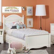 Tempat Tidur Laci Putih Modern Minimalis Untuk Set Kamar Anak