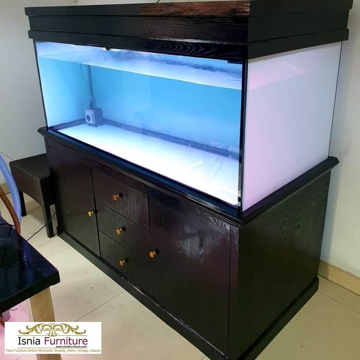 Meja Aquarium Minimalis Kayu