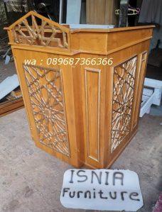 Jual Mimbar Bekasi Untuk Masjid Desain Minimalis Kayu Jati