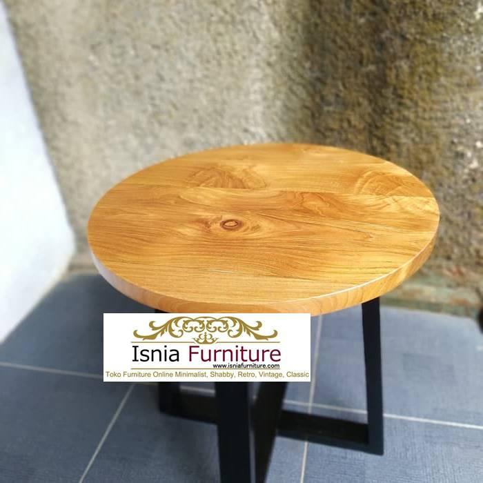 meja kayu bulat jati
