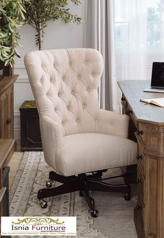 kursi kerja kayu minimalis