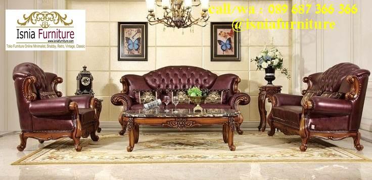 Jual Kursi Sofa Jati Klasik Bentuk Terpopuler